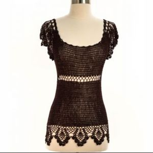 Wet Seal top in crochet lace fabric 100% rayon